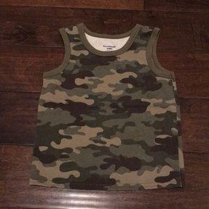 Camouflage sleeveless shirt size 4T